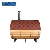 Sauna portatif de baril de Bath grand de sauna avec la tuile imperméable à l'eau en verre de fibre