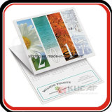 Calendário de parede Foldable de 3 meses da impressão feita sob encomenda