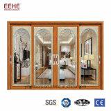 La seguridad puertas correderas de aluminio recubierto de polvo certificado SGS