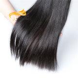Longue durée de doux et lisse noir Le Tissage de cheveux humains