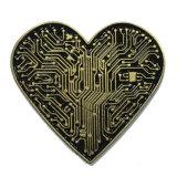 새로운 특별한 디자인 심혼 애인 (bd 011)를 위한 모양 접어젖힌 옷깃 핀