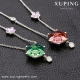 43141 Xuping Material de aleación de cobre los cristales de Swarovski Collar de joyas de señoras