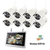 Sistema de câmaras CCTV 8CH NVR WiFi sem fios do kit de tela de 11 polegadas