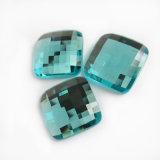 Quadratische flache Rückseiten-Glasraupen und Kristalledelstein für Schmucksache-Zubehör