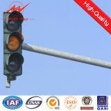 Q345 4m/personnalisation de signal de Pôle galvanisée par 6m de feu de signalisation procurable