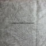 El llano mezclado de lino de la tela del algodón teñió