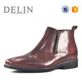 Mejor calidad de cremallera Bota de cuero hechos a mano Mens Zapatos para hombres