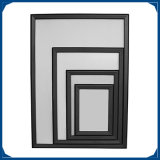 32mm de aluminio negro Broche Marcos en tamaños personalizados