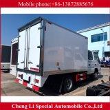 고품질 4X2 Isuzu 두 배 줄 5 시트 냉장고 트럭