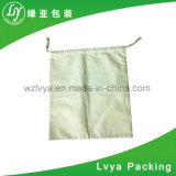 Saco de Drawstring orgânico por atacado do algodão do Polypropylene para o trigo, arroz, empacotamento da farinha