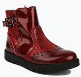 La neige rouge coréenne en gros de l'hiver de filles d'Ankel amorce des chaussures de gaines de gosses