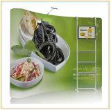 présentoir extensible incurvé horizontal de tissu de 10FT avec le support de la crémaillère d'étalage TV