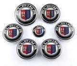 значок эмблемы управления рулем хобота клобука крышки эпицентра деятельности центра колеса 7PCS для BMW