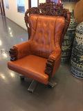 Diseño clásico del bastidor de madera silla ejecutiva de cuero para el GERENTE GENERAL