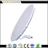El panel de aluminio Downlight del redondo LED de RoHS 9W IP44 para la oficina