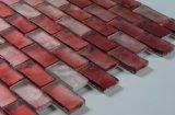 Qualitäts-Sand macht Frosting-rote Fluoreszenz-Glasmosaik-Fliese in Handarbeit