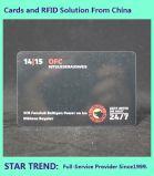 Cartão de plástico com código de barras para Club