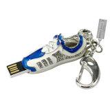 Movimentação de cristal colorida do USB da jóia de 2 sapatilhas do futebol do metal