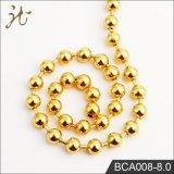 Collier de chaîne de bille de couleur d'or en métal de Fashnion