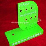 Indicação da bateria de acrílico personalizado com logotipo da Cremalheira