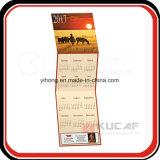 カスタム印刷のFoldable 3か月の壁掛けカレンダー
