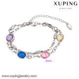 74733 Xuping Form-Schmucksache-Frauen-Armband, Luxuxarmband, Rhodium-Farbe überzogenes Armband