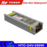fonte de alimentação HTC do interruptor do transformador AC/DC do diodo emissor de luz de 24V 10A 250W