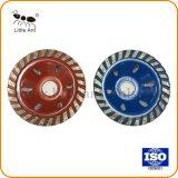 빨강과 파랑 콘크리트를 위한 100개 mm 다이아몬드 컵 모양 회전 숫돌