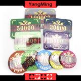 as microplaquetas plásticas do póquer 760PCS ajustaram-se (YM-FOCP004)