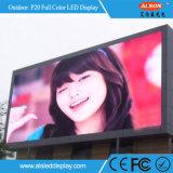 Panneau-réclame de publicité fixe extérieur polychrome de l'Afficheur LED P20
