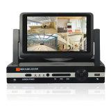 5 1 4 Channel Monitor LCD de 7 polegadas para Ahd DVR/CVI/Tvi/CVBS/entrada de câmaras IP