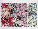 Lazo floral teñido hilado del cuello de la tela del algodón
