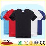 ワイシャツを広告するための男女兼用のTシャツに着せる高品質の綿