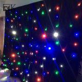LEDの低下カーテンのきらめく星のカーテンは結婚式の背景幕をつける