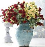 Die künstliche Blumen-Silk lila Rosen Wholesale Blumen-Fälschungs-Blumen Wedding Lieferanten-reales Noten-Rosen-Rot