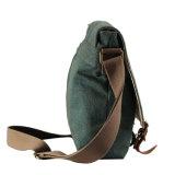 Denim Laser Design Messenger Sacchetto del sacchetto con testo fisso di cuoio