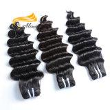 Extensiones brasileñas del pelo humano de la alta calidad profunda floja de la onda