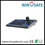 La palanca de mano de un teclado controlador PTZ