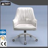 中間の背部PUの革旋回装置のオフィスの余暇の椅子