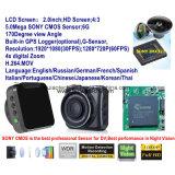 """2017 2.0 """" câmera cheia da caixa negra do carro de HD 1440p com o carro DVR de Novatek 96660, G-Sensor, visão noturna, gravador de vídeo de estacionamento de Digitas do traço do carro do controle"""