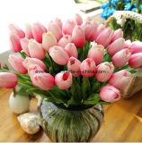 Silk Tulpe-Blumen-Vorbereitungs-gefälschte Blumen, die Lieferanten-künstliche Blumen-reale Noten-künstliche grüne Tulpe Wedding sind