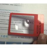 Cartões de visita de lupa promocionais / Marcadores de plástico Lupa de PVC (HW-802A)