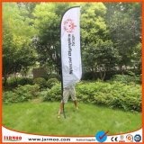 Bannière de plumes de vol avec X-cross et d'eau de Base Sac pour résister à un vent fort