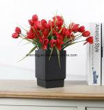 Il mazzo di seta artificiale del tulipano delle 12 teste per il tocco reale della decorazione di cerimonia nuziale fiorisce i mazzi dei tulipani