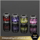 El encanto de corte rectangular abalorios abalorios de cristal para la fabricación de joyas Mjcc020