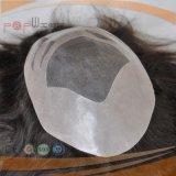 레이스 기본적인 실리콘 입히는 남자의 Toupee (PPG-l-01411)