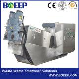 Roestvrij staal 304 de Pers van de Filter van de Modder van de Schroef voor Behandeling van afvalwater