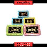 Rechteckige/Schürhaken-Chips des Anti-Fälschenkristalles; Kasino-Chips für engagiertes Kasino-spielende Spiele (YM - CP002)