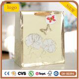 Weiße Blumen-Basisrecheneinheits-Kleidungs-tägliches Notwendigkeits-Geschenk-Papierbeutel