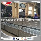 El grado B del tubo de acero ASTM A500 de ms Galvanized galvanizó los tubos de acero cuadrados galvanizó los tubos de acero rectangulares/el tubo cuadrado galvanizado/el tubo rectangular galvanizado